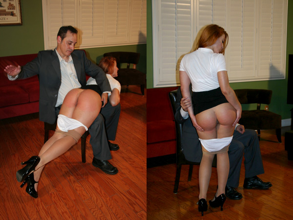 Cheyenne Jewel's amazing round butt is well spanked