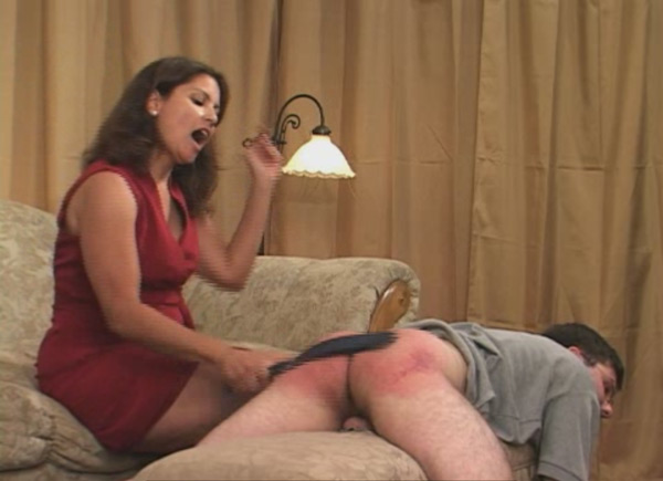 Chelsea Pfeiffer and Virginia Lewis punish Todd in a femdom scene from Sore Losers