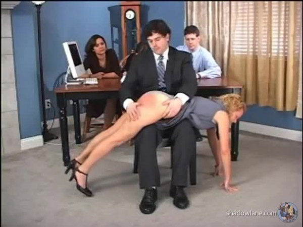 Pixie gets spanked with an audience at her inheritance spanking
