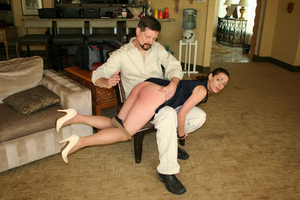 Ten Amorette gets spanked OTK for her technology addiction