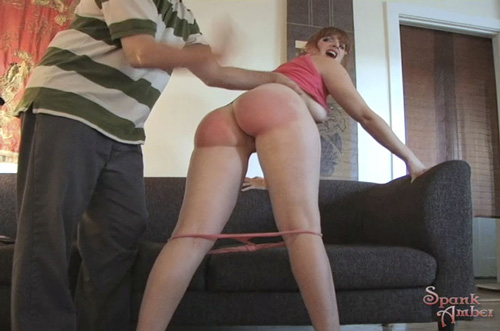 Amber gets a Daddy spanking then gives a blowjob
