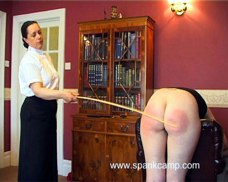 A bad girl gets caned in Spank Camp