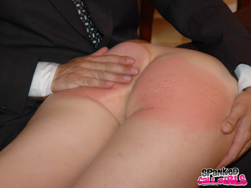 Clare Fonda's bottom gets a bright, rosy red from the spanking
