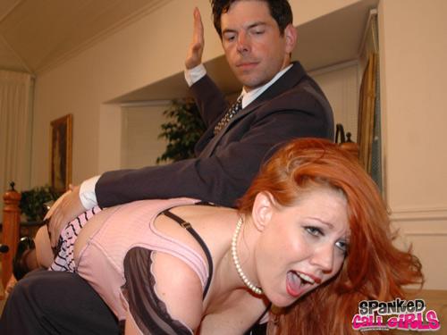 Sasha Reardon gets her turn over James Mitchell's knee