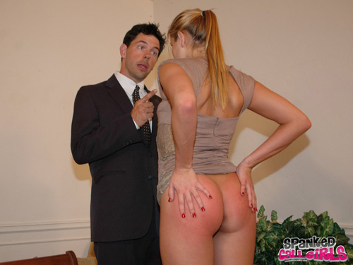 James Mitchell scolds Alanah Rae, who already has a lovely pink bottom