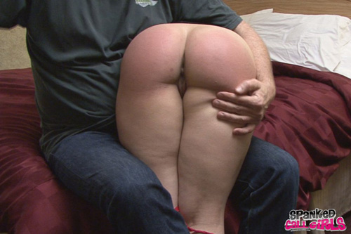 Ten Amorette's lovely, big, round bottom gets a very hard MF spanking