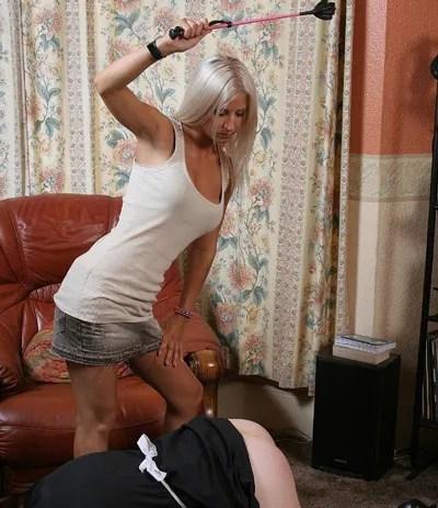 Smokin' Hot Miss Vixen spanks naughty Lucy