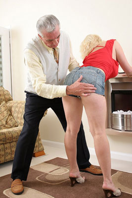 Spanked For Taking Money