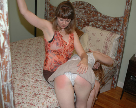 Madison Young gets a good OTK spanking from Clare Fonda
