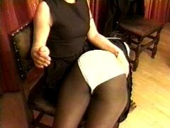 Ebony Girl Spanked and Caned