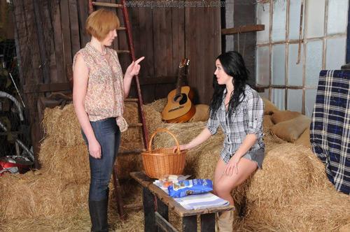 Sarah discovers stablehand Kiki's naughty plans