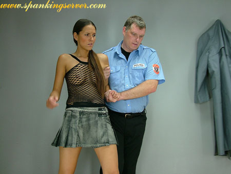 Naughty girl arrested for a spanking