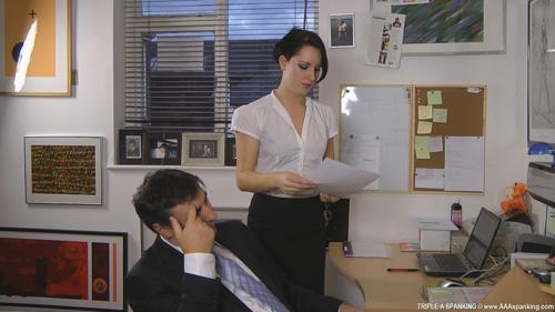 Jasmine Lau approaches her boss Mr Osbourne about a problem