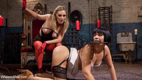 Mona Wales spanks Rose Rhapsody at Whipped Ass