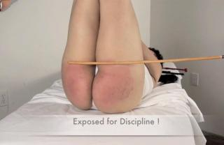 Spanking diapers pulled down