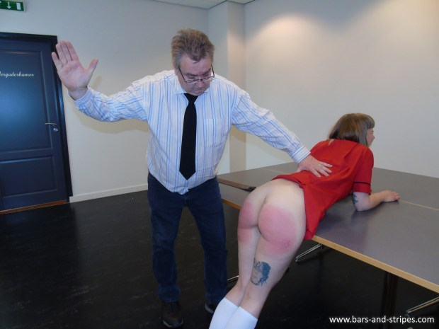 Spanked for not wearing panties