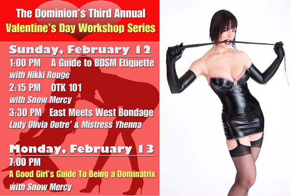 Snow Mercy gave some classes at The Dominion's Third Annual Valentines Day Worshop