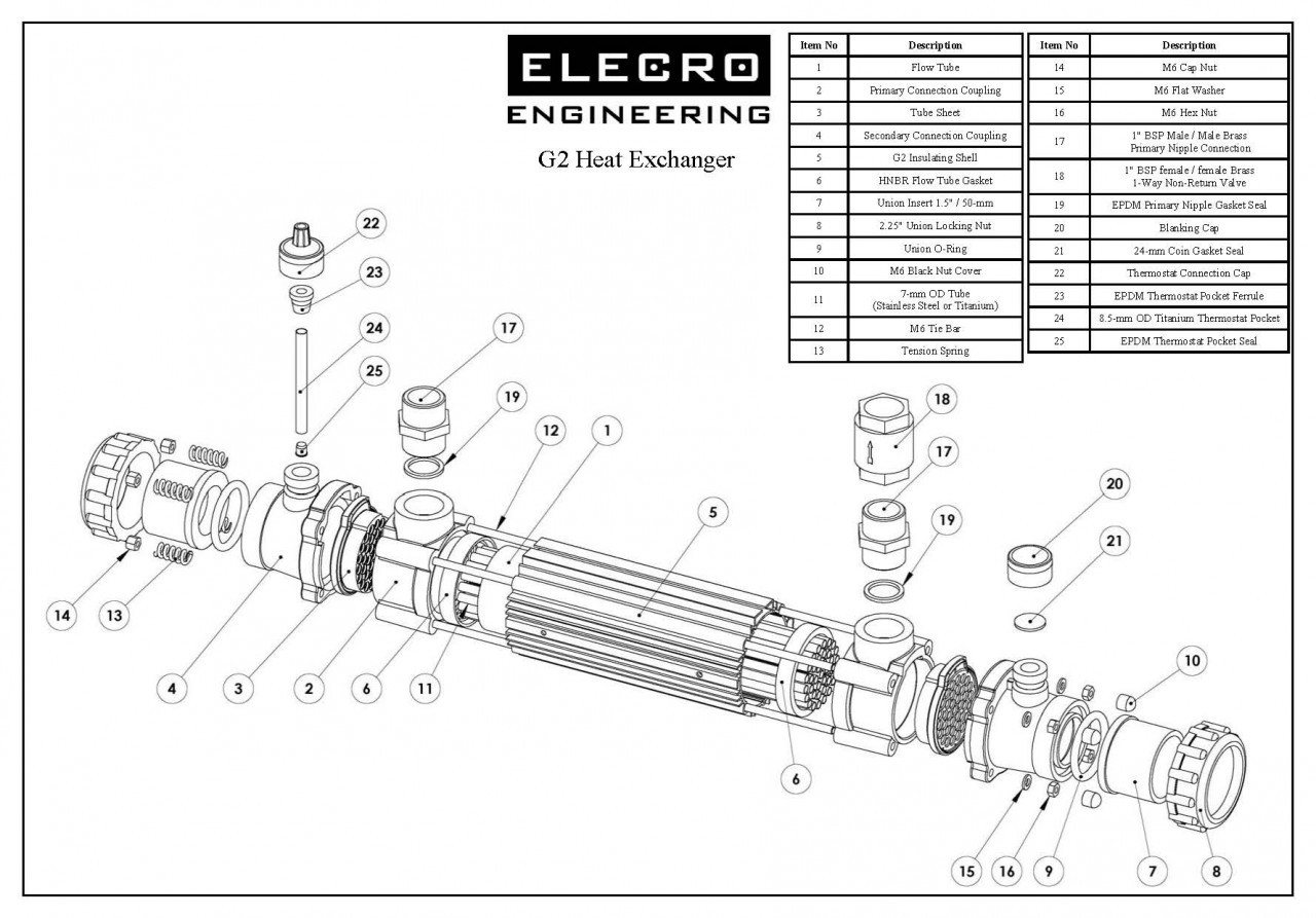 Elecro G2 Titanium Heat Exchanger For Swimming Pools Spas