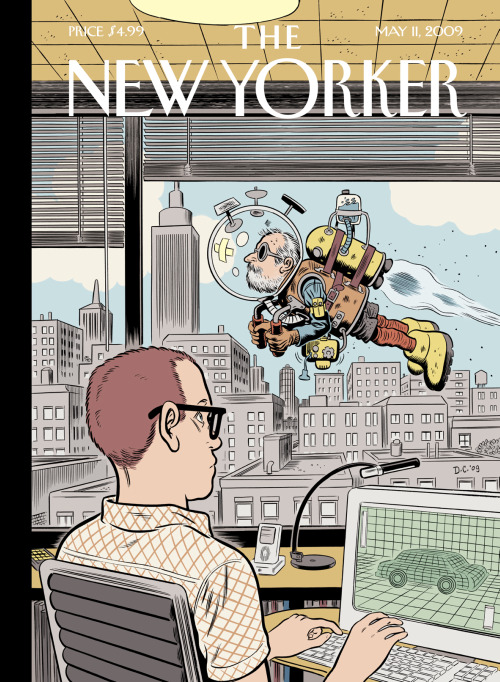 New Yorker cover by Dan Clowes