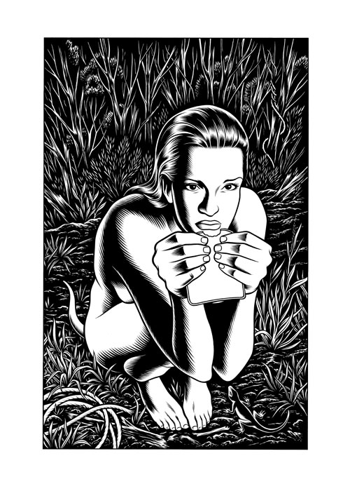 Girl & Sandwich (c) Charles Burns