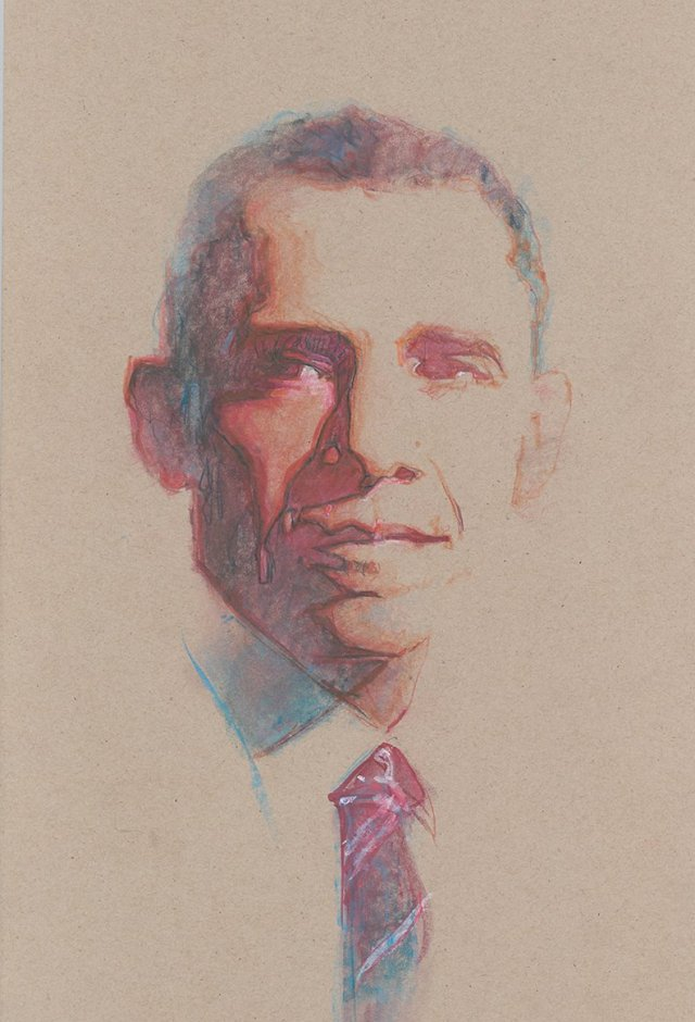 President Barack Obama by Bill Sienkiewicz