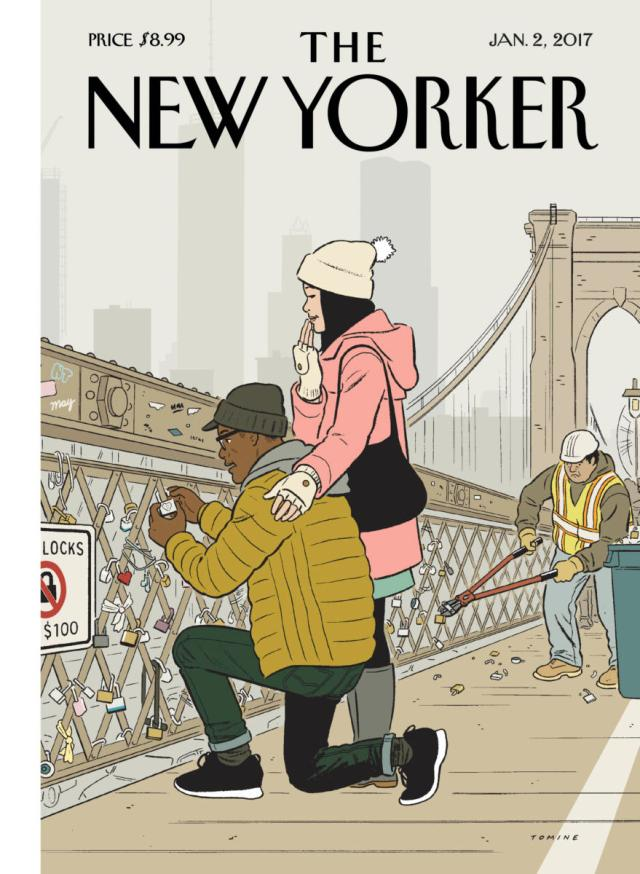 New Yorker cover by Adrian Tomine