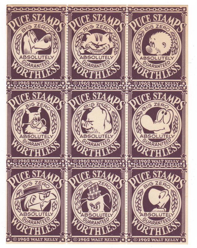 Puce Stamps by Walt Kelly, 1962