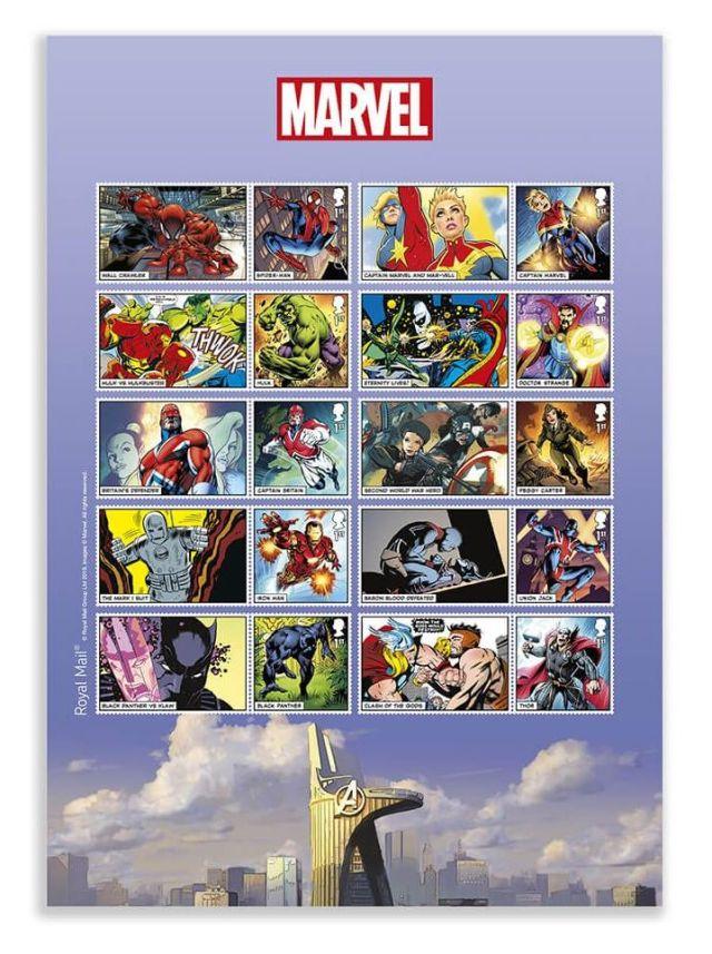 Marvel stamp