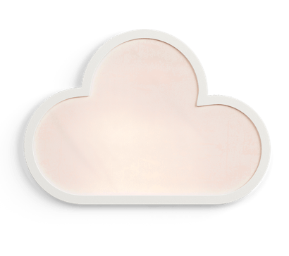 Image of a light pink cloud with white outline