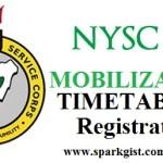 NYSC REGISTRATION, TIMETABLE, MOBLIZATION