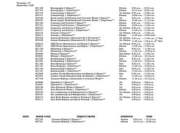 WAEC Timetable 8