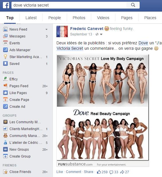 Page Facebook Dove