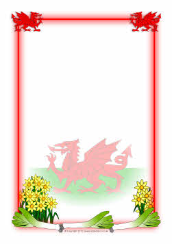Wales Themed A4 Page Borders Sb3235 Sparklebox
