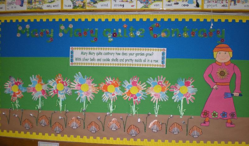 Mary Mary Quite Contrary Classroom Display Photo Photo