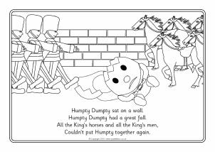 nursery rhymes coloring pages # 27