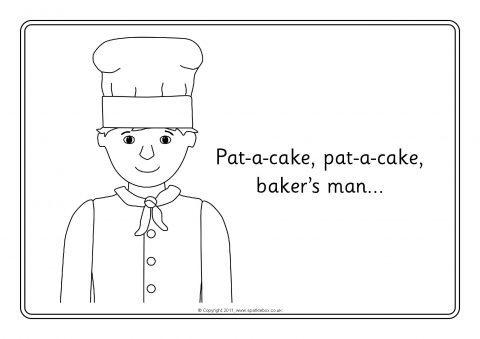 Pat A Cake Colouring Sheets Sb7325 Sparklebox