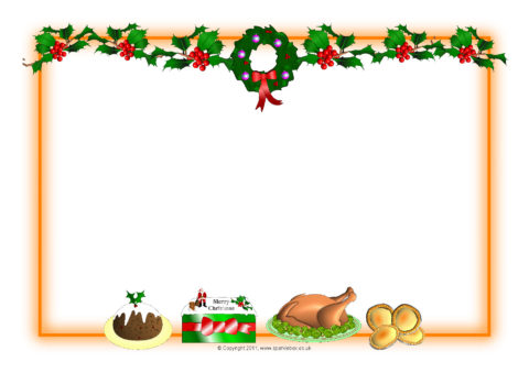 Christmas A4 Landscape Page Borders 1 SB6309 SparkleBox
