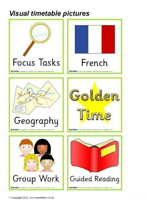 Visual Timetable For Ks2