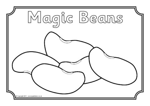 jack and the beanstalk coloring pages # 15