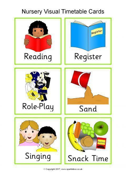 Visual Timetable For Nurseries