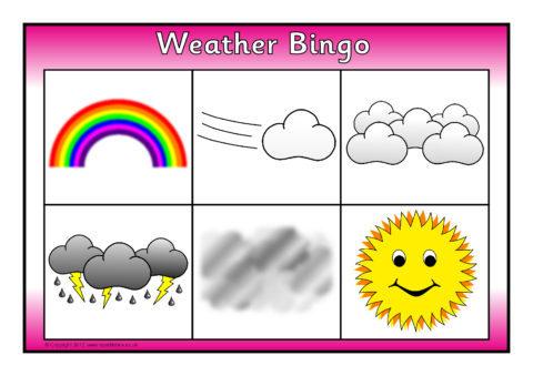 Weather Bingo SB7076 SparkleBox