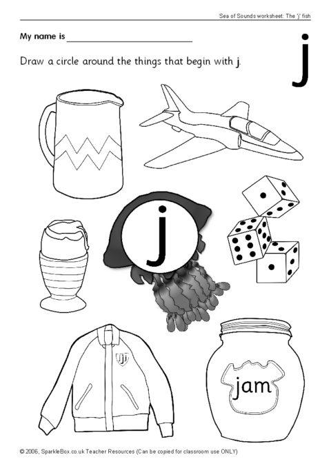 Letter J Worksheets Sb440