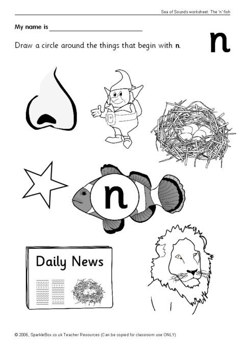 Letter N Worksheets Sb93