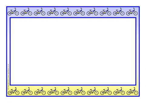 Cycling Themed A4 Page Borders SB8022 SparkleBox