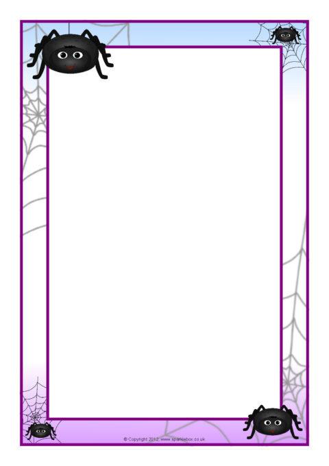 Spider A4 Page Borders SB8059 SparkleBox