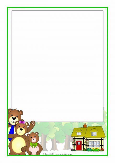 Goldilocks And The Three Bears A4 Page Borders SB4451