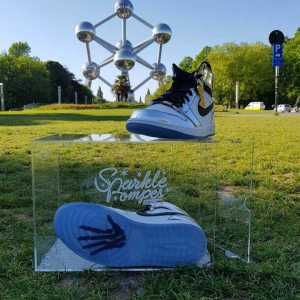 sparkle box dropdown jordan 1 pass the torch - boite transparente de rangement pour sneakers