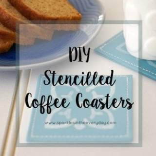 The tips to DIY Stencilled Coffee Coasters!
