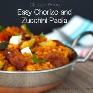 One Pot Easy Chorizo and Zucchini Paella