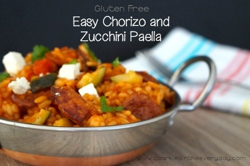 Easy Chorizo and Zucchini Paella!
